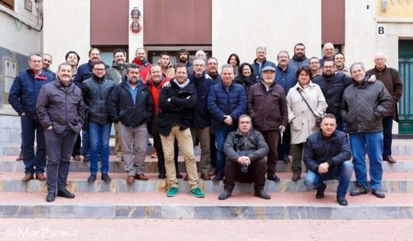 Foto de grupo junto a sede GFP
